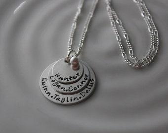 Grandma Layered Disc Necklace