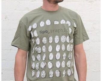 SALE khaki piggyes man t-shirt tshirt shirt lovely cute characters urban street tee S M L XL