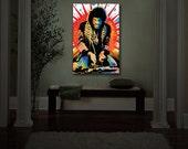 Wall Art Home Decor Jimi Hendrix Illuminated wall pop art