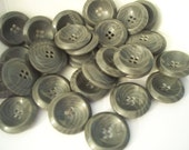 Gray Stripe Scoop Buttons-imperfect