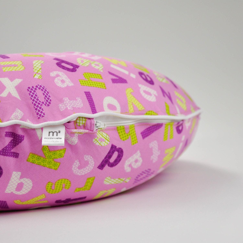Clearance Orchid Alphabet Boppy Cover Purple Nursing Pillow