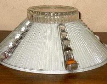Vintage Retro Lead Cyrstal Glass Lamp Globe 1940s
