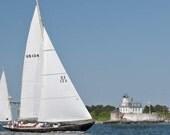 Sailing Decor, Nautical Canvas Wall Art, Large Wall Art, Large Canvas Print, Home Decor, Interior Design, Cottage Decor, Rose Island,