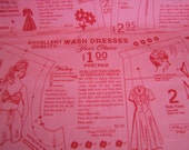 Vintage Happy by Lori Holt for Riley Blake Designs  1 Yard Pink Vintage Cloth End of Bolt