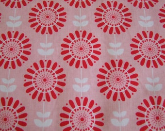Pink Flower Fabric by the Yard Twice as Nice The Quilted Fish