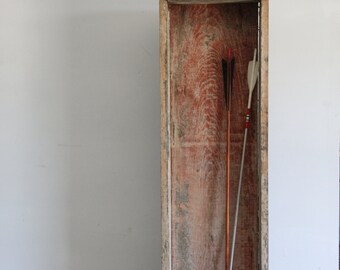 vintage wooden storage box, organizer, rustic curiosity box