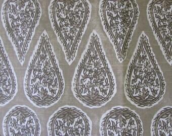 ANYA SAND  designer, drapery/bedding/upholstery ikat fabric
