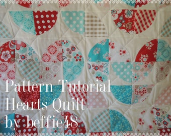 Disappearing Hearts Quilt Tutorial w photos, Use Layer Cake