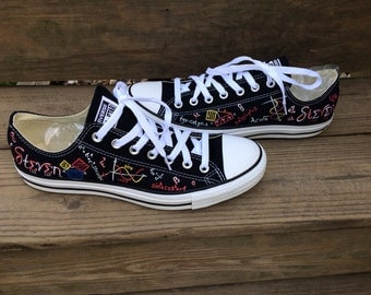Actuary Converse Mathematical Equations Math Actuarial Science Hand Painted Shoes