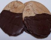 Chocolate Dipped Espresso Shortbread Cookies ( 1 Dozen )