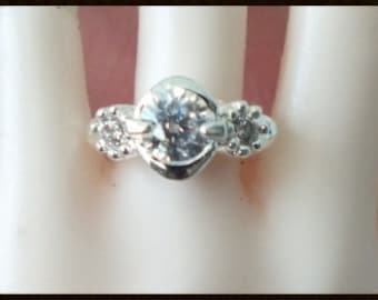 1/3 SD BJD Silver Engagement ring