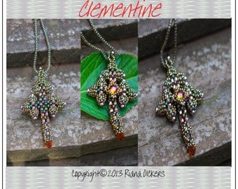 Right Angle Weave Cross Bead Tutorial - CLEMENTINE