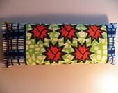 Eye Pillow - Orange Green Blue Burst African Batik