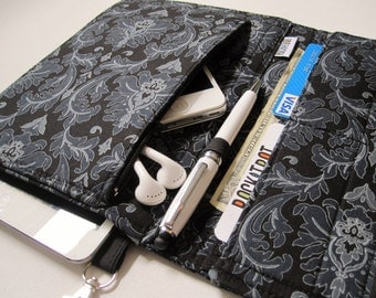 Tablet Keeper in Dark Damask for iPad, iPad Mini, Nexus 7, Kindle Fire, Nook and more