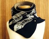 65% OFF! The black and khaki Dragon scarf