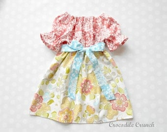 Girls Spring Dresses - Girls Dresses - Baby Girl Dresses - Girls Easter Dress - Blush and Blossoms Dress