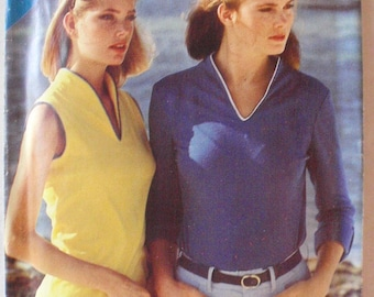 Women's Vintage 1970's Sewing Pattern - Knit Pullover Top - Butterick 3089 - Sizes 8-10-12, Bust 31 1/2 - 34, Uncut