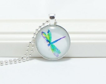 Dragonfly Pendant, Dragonfly Jewelry, Nature, Flying Insect