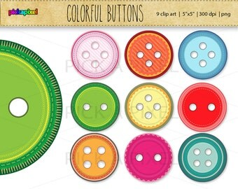 Buttons - digital clip art - Personal and Commercial Use