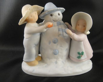 Snow Play Circle of Friends by Masterpiece Homco Porcelain Figurine