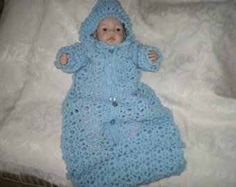 Cozy Blue Bunting Newborn to 6 Months