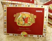 Cigar Box for Crafting - Red Box - Romeo Y Julieta - Reserva Real - Robusto - Empty Craft Box