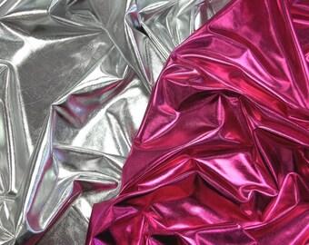 High Quality Liquid Metal Super Shiny Spandex Stretch Fabric