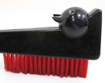 Vintage Black Cat Plastic Clothes Brush - Red Brush Bristles