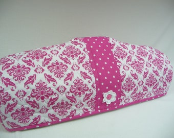 HOT PINK DAMASK  - Cricut Dust Cover - Cricut Cozy - E2 Dust Cover - E2 Cozy - Dust Cover
