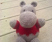 Crochet Hippo Amiguri Plush