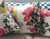 Vintage 1950's Floral Cushion