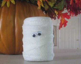 Halloween Mummy Jar -- Halloween Decor - Halloween Decoration