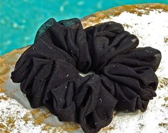 Black Glittering Mesh Scrunchie