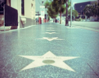 "Hollywood Stars Photograph, Los Angeles, California, Dreamland, Teal Yellow, ""Walk Of Fame"""