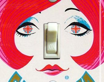 BRITISH GAL Vintage Pan Am Poster Switch Plate (single)  ***FREE Shipping***