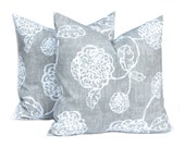Pillows, Toss Pillow, Gray Pillow, Decorative Throw Pillow Cover Pewter Gray One All Sizes Gray Floral Cushion Covers Gray Cushions