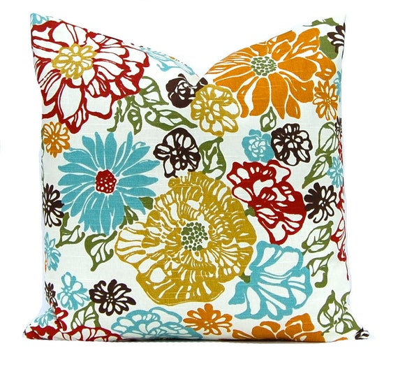 Decorative Floral Pillow Covers : Floral Pillow Decorative Throw Pillow Cover Autumn Pillow