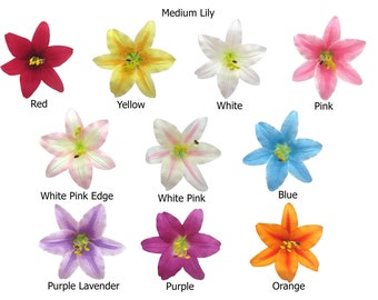 Medium Lily Flower Hair Clip 4.75 Inches. Choose color