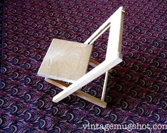 """Vintage Strombecker  Doll Furniture Folding Chair 5 1/2"""" Works Great"""