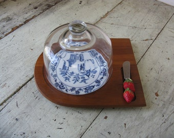 cheese tray glass cloche cheese tray ceramic french farmhouse vintage wedding rustic country