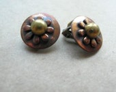 Vintage Earrings Copper Jewelry 70s Jewelry SALE