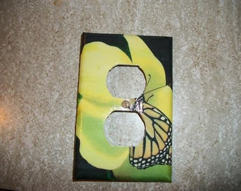 OUTLET PLATE COVER - Posing Butterfly