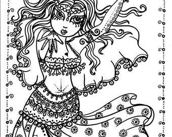 Chibi Coloring Book Etsy