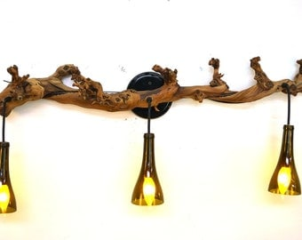 "ELEGANCE  - ""Corvina"" - Grapevine and Bottle Light - 100% Recycled"