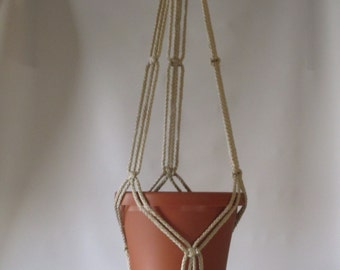 Macrame Plant Hanger 35in SIMPLE 3-ARM 6mm - PEARL