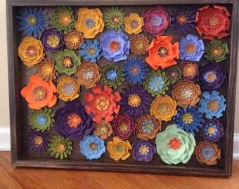 """3D Flower Wall Art 24""""x18"""""""