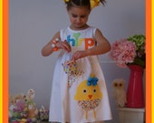 Easter Dress Girl - Chick Just Hatched Dress for Girl ... Infant up to Girl size 8