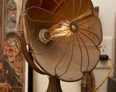 One Of A Kind Copper Re-Wired Antique Vintage Heater Turned Into a Lamp