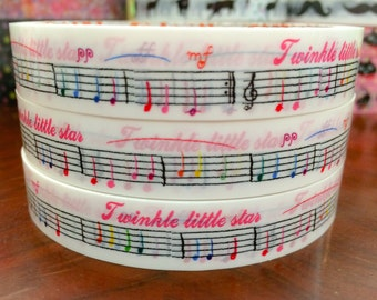 Deco Tape Stickers - music notes DT553 10meters