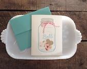 Mason Jar Full of Love Card